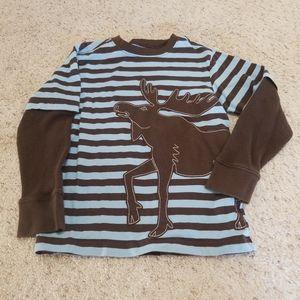 Crazy 8 moose shirt boys 5/6
